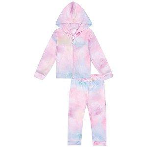 Conjunto Infantil Feminino Tie Dye - Kukiê