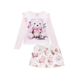 Conjunto Infantil Feminino Pequeno Urso - Kukiê