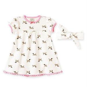 Vestido Infantil Feminino Dogs - Pingo Lelê