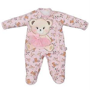Macacão Infantil Feminino Ursa Stela - Upi Uli