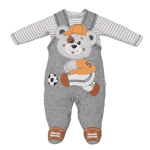 Macacão Infantil Masculino Urso Futebol - Upi Uli
