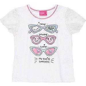 Blusa Infantil Feminino Óculos - Momi