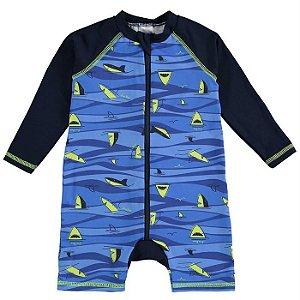 Macacão Infantil Masculino Tubarão - Luc.Boo