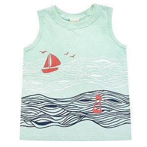 Camiseta Infantil Masculina Regata Barquinho - Have Fun