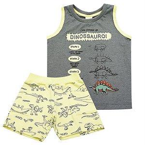 Conjunto Infantil Masculino Regata Dinossauro  - Have Fun