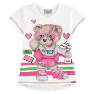 Blusa Infantil Feminino Ursinha Fashion - Kukiê