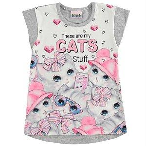 Blusa Infantil Feminino Cats - Kukiê