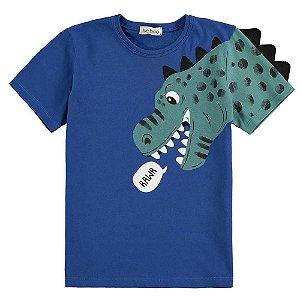 Camiseta Infantil Masculino Dinossauro - Luc.Boo