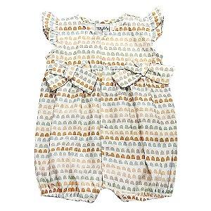 Macacão Infantil Feminino Arcos - Tilly Baby