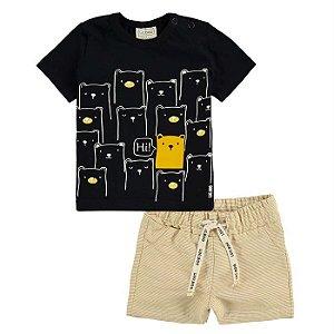 Conjunto Infantil Masculino Urso Amarelo - Luc.Boo