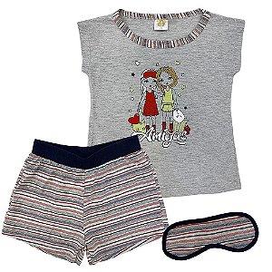 Pijama Malha Listras Amigas - Have Fun