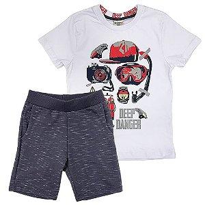 Conjunto Camiseta Sport e Bermuda Moletom - Have Fun