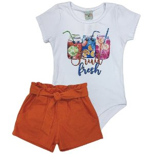 Conjunto Body e Shorts Fruit de Malha - Have Fun