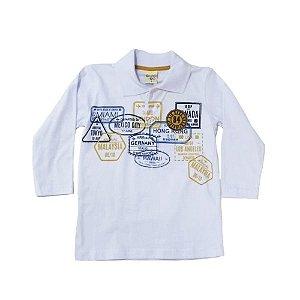 Camiseta Infantil Masculino Manga Longa Gola Pola - Have Fun