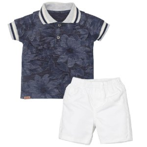 Conjunto Camiseta Polo e Bermuda - Upi Uli