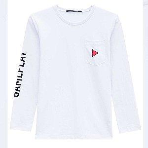 Camiseta Infantil Masculina Game Play Branco - Johnny Fox
