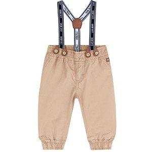 Calça Infantil Masculina com Suspensório - Luc.Boo