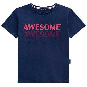 Camiseta Malha Awesome - Luc.Boo