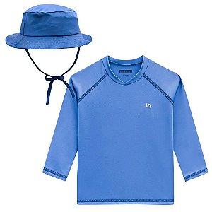 Camiseta com Proteção Solar e Chapéu - Luc.Boo