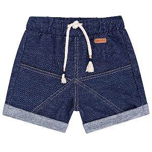 Bermuda Moletinho Jeans Azul - Luc.Boo