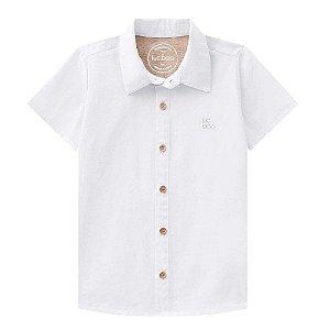 Camisa Infantil Masculina Tricoline Branca - Luc.Boo