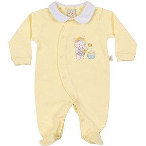 Macacão Longo Suedine Ursinhas - Anjos Baby