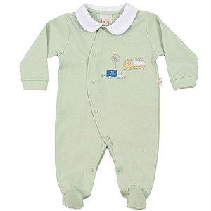 Macacão Longo Suedine Carros - Anjos Baby