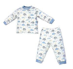 Conjunto Infantil Longo Plush Ursinho Azul - Anjos Baby