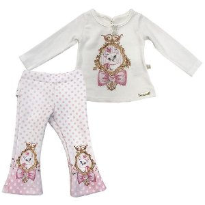Conjunto Infantil  Blusa e Calça Poa - Kiki Xodó