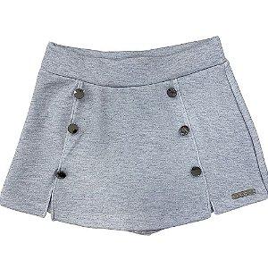 Shorts Saia com Botões - Kiki Xodó