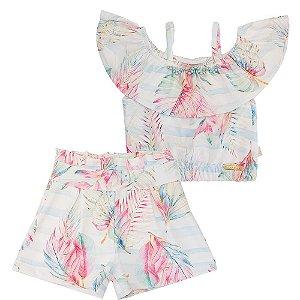 Conjunto Blusa Ciganinha e Shorts - Kiki Xodó