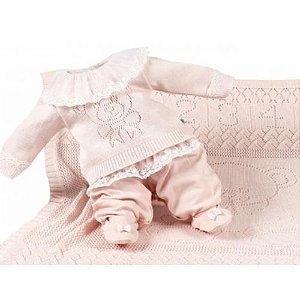 Saída Maternidade Feminina Bebel Rose - Beth Bebê