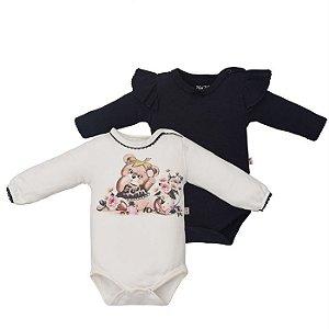 Kit Body Infantil Feminino Ursa - Upi Uli