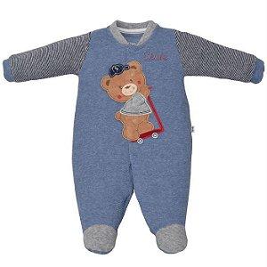 Macacão Infantil Masculino Urso Skate - Upi Uli