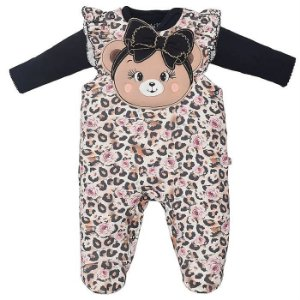 Macacão Infantil Feminino Ursa Naiara - Upi Uli