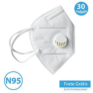 Mascara com Respirador N95 com 30 unidades