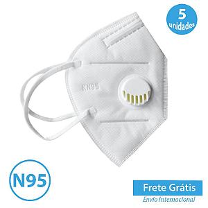 Mascara com Respirador N95 com 5 unidades