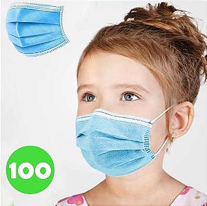 Máscara Descartável Infantil 100 Unidades