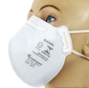 Máscara Equivalente a N95 Descartável PFF2 pacote com 2 unidades