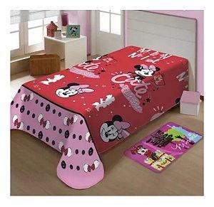 Manta Cobertor Soft Microfibra Jolitex Disney Minnie Mouse