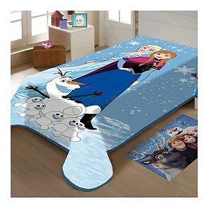 Cobertor Solteiro Frozen Raschel Disney 1,50x2,00m Macio