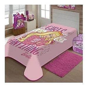 Cobertor Solteiro Macio Juvenil 1,50 X2,00 Barbie Licenciado