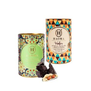 Haoma Bombom Chocolate Belga Wafer e Paçoca 2 Latas Kit