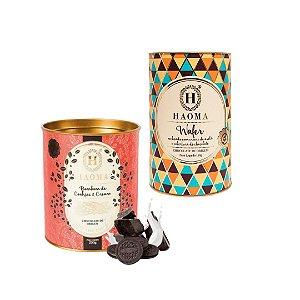 Haoma Bombom Chocolate Belga Wafer e Cookies 2 Latas Kit