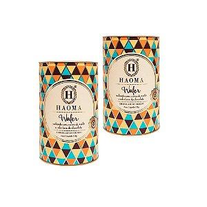 Haoma Bombom Wafer Chocolate e Avelã Edicao limitada 2latas