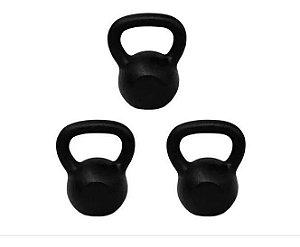 Ketlebel Kit 4+6+14 Kgs Halter Anilha Pesos Musculação 3unid