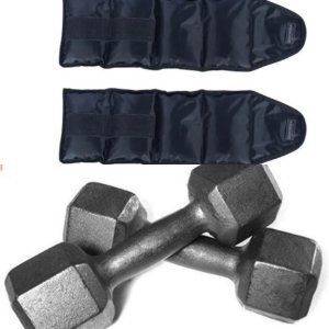 Caneleira Tornozeleira Par 1 Kgs + Par Halter 1kgs Kit