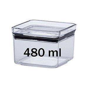 Pote Hermético Empilhável Multiuso Cozinha 480ml Lumini