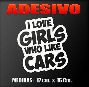 ADESIVO I LOVE GIRL 17 X 16 cm.