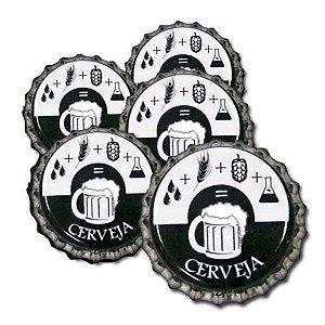 Tampinha - Rolha Metálica Formula da Cerveja (PRY-OFF)